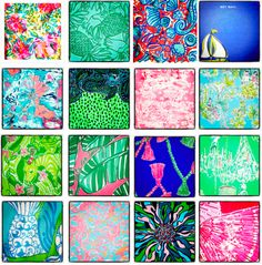 Can you name all the Lilly Pulitzer prints pictured?