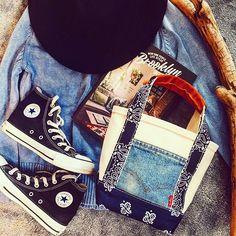 続き♡ ・ ・ @soraumi ✖︎SUNDAYMARKET 限定ミニトート♡その2 ・ ・ ・ こちらはポケットがデニムのミニトートだよ♡  これもすごくかわいかったー♡  限定1コ♡  ONLY ...