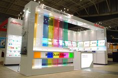 My color booth. Exhibition Stall, Exhibition Booth Design, Exhibition Display, Exhibition Ideas, Exhibit Design, Pop Display, Display Design, Exibition Design, Expo Stand
