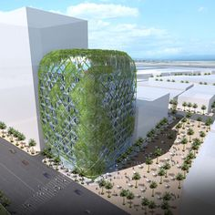 Green tower in Jumeirah Village, Dubai by James Law Cybertecture