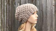 Baby Knitting Patterns, Knitting Yarn, Hand Knitting, Crochet Patterns, Knit Or Crochet, Crochet Hats, Moss Stitch, Slouchy Beanie, Beanie Hats