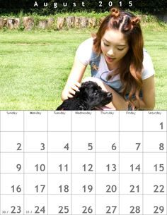 Taeyeon Calendar(800×1035)☺August2015