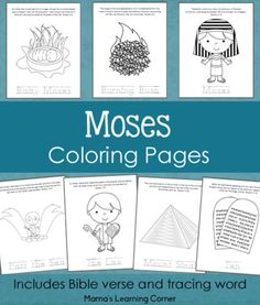 Moses Coloring Pages From Mamas Learning Corner