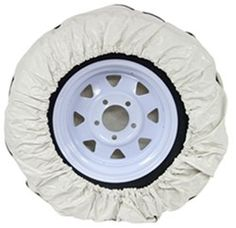 Camco Vinyl Spare Tire Cover 28 Diameter Colonial White