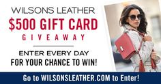 Enter Wilsons Leather's Stars & Stripes $500 Gift Card Giveaway now through July 4th, 2017.  Enter once per day.  Share and get 10 bonus entries when your friends enter. #giveaway #starsandstripes