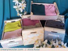 3 ideas con huacales para organizar - Crear y Reciclar Suitcase, Diy, Upcycle, Organize, Create, Places, Do It Yourself, Bricolage, Suitcases