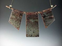 Originally design for Neiman Marcus, this has a strong following among Art Jewelry Collectors.  Each is an incredible and unique section of old copper rain gutters of roof flashing and are there fore quite special. Some galleries have clients who have bought a 2nd or 3rd because each was so compelling.  Usually about 5 inches wide.