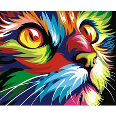 Painting Supplies 1 Set Home Decor Paint By Number Oil Painting Diy Kit Rainbow Cat No Frame Gift & Garden Simple Oil Painting, Oil Painting On Canvas, Diy Painting, Canvas Art, Acrylic Canvas, Canvas Frame, Painting Classes, Painting Flowers, Diy Canvas