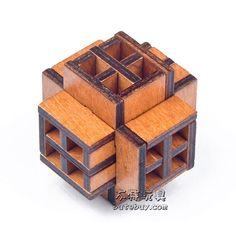 Would Window Unlocking Ring Wooden Burr Brain Teaser Tangram Educational Toy Puzzle Bois Intellect Ball Wood Toys For Children #Affiliate