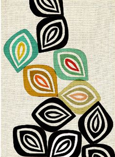 Fall, This design would make a great fabric wall hanging.