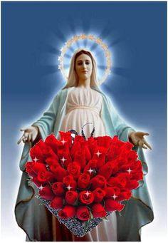 "O Maryjo Panno najpobożniejsza daj umysłowi memu skupienie"" Amen Mary Jesus Mother, Mother Mary Images, Images Of Mary, Blessed Mother Mary, Mary And Jesus, Blessed Virgin Mary, Dove Pictures, Jesus Pictures, Hail Holy Queen"