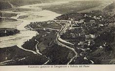 Longarone e il Piave (cartolina di Pompeo Breveglieri, del 1920)