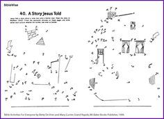 Parable Wise Man & Foolish Man (Dot-to-Dot) - Kids Korner - BibleWise