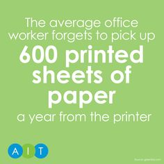 It's time for this weeks print fact #pcounter #printmanagement #savepaper #fact #office #work #paper