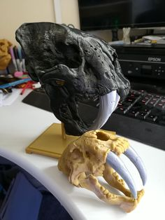 Saber-Toothed Cat Skull by Ismail 'ish' Aya