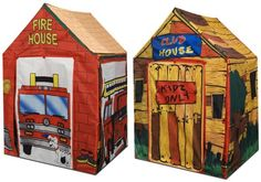 Kids Adventure 2 in 1 Fire House Club House Play Tent:Amazon:Toys & Games