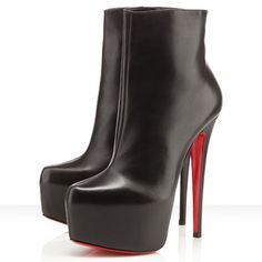 Christian Louboutin Daf Booty Ankle Leather Ankle Boots 160mm Le