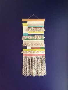 A tapestry weaving made from tassel scraps