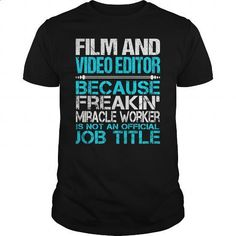 Awesome Tee For Film And Video Editor #tee #Tshirt. CHECK PRICE => https://www.sunfrog.com/LifeStyle/Awesome-Tee-For-Film-And-Video-Editor-123426895-Black-Guys.html?60505