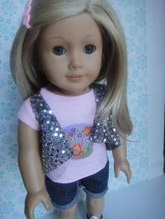 No Sew Vest   Free Sewing Pattern for American Girl Dolls