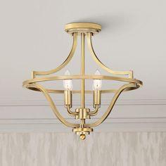 Brass Ceiling Light, Semi Flush Ceiling Lights, Flush Lighting, Ceiling Light Fixtures, Lamp Light, Versailles, Gold Chandelier, Chandeliers, Entryway Chandelier