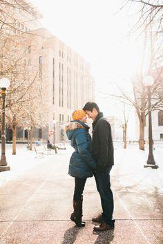 Amber & Owen | Minnesota Winter Engagement Photography » Minneapolis Minnesota Wedding Photography by Joanna Day