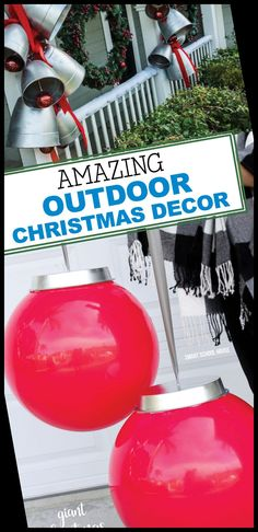 Check out these DIY decorating tips! christmas decorations diy crafts Outdoor Christmas Decor 24+ | christmas decorations diy crafts | 2020 Christmas Lights Outside, Christmas House Lights, Christmas Bulbs, Christmas Crafts, Christmas Ideas, Christmas Decorations Diy Crafts, Diy Ornaments, Diy Décoration, Easy Diy
