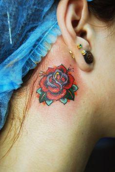 Female tattoo #tattoo #sketchtattoo #idea #ink  #tattooartist #tattoonhamon #inked #tattooed #rose