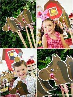Barnyard Party: Diy Toy Horse Photo Props