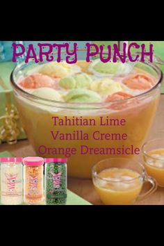 Party Punch Tahitian Lime, Vanilla Crème  Orange Dreamsicle ~Pink Zebra~Sprinkles~Recipe~ www.pinkzebrahome.com/DreamPZwithAshley