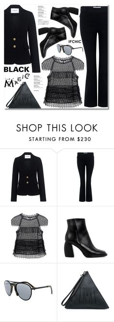 """Black Magic!"" by ifchic ❤ liked on Polyvore featuring 10 Crosby Derek Lam, Marissa Webb, TIBI, Grey Ant and McQ by Alexander McQueen"