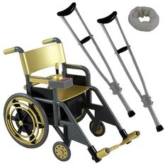 Any reason I shouldn't find this the 'least' bit funny? ;) LOL WWE Wheelchair Playset (Gold) - Ringside Exclusive Toy Wrestling Action Figure Accessories Pack