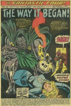 "Fantastic Four vol. 1 # 126, ""The Way It Began!"" (September, 1972). Art by John Buscema & Joe Sinnott."