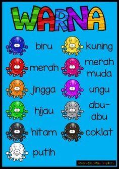 Warna poster in Indonesian (bahasa Indonesia) .