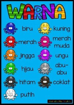 A super simple colour chart in bahasa!Enlarge/print off, laminate and display! A must-have resource for all LOTE classrooms!Cannot be resold, not for commercial use.Prefer a different font?  Just ask, if I can do it, I will! Also, let me know if you prefer kelabu/cokelat - happy to provide alt spellings on request!
