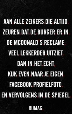 En zo is het! | facebook | McDonalds