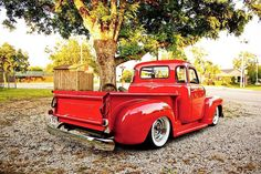 Ebay Find: A Clean, Kustom Red '52 Chevy 3100 Series Pickup