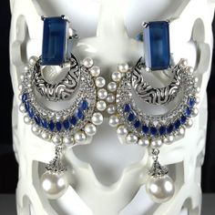 SALE Bridal Chandelier Earrings Crystal CZ by JhumkaBali on Etsy