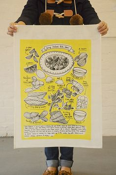 More from Dawn Tan, this time screen printing brilliance. Oh how I love her illustratons! They just scream fun...