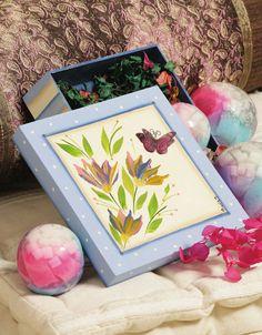 Caixa de MDF com pintura e découpage / DIY, Craft, Upcycle