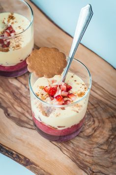 Zabaglione with Rhubarb, Strawberries, & Ginger Cookie Crumble - Blogging Over Thyme