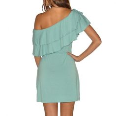 On or Off the Shoulder Dress with Tie Waist - So cute, and it can be worn different ways