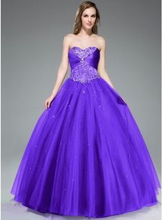 ea336335d19 Ball-Gown Sweetheart Floor-Length Satin Tulle Prom Dress With Ruffle Beading  Sequins Cheap