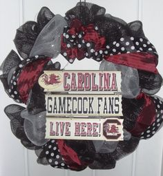 Gorgeous:) - change the maroon to red and the Carolina Gamecocks to Texas Tech Red Raider!