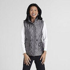 101d8ac5997 Laura Scott Women s Double-Quilt Puffer Vest from Sears  19.99 Double  Quilt
