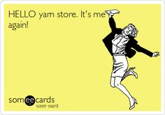 "Yarn store love.Sometimes when I go to my LYS, I feel like spinning around and singing like Maria in the ""Sound of Music"""