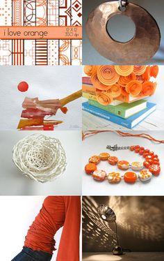 I love Orange...  No really! by Brittany Henderson on Etsy--Pinned with TreasuryPin.com