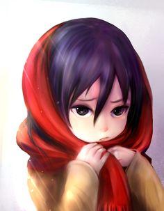 Shingeki no Kyojin: Mikasa Ackerman by 張小波