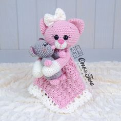 Ravelry: Kissie Kitty & Skip Mouse lovey pattern by Carolina Guzman
