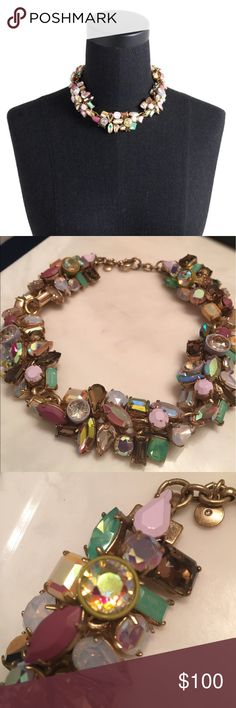 J.Crew Gem Cluster Statement Necklace Perfect statement necklace for spring. Never worn. No missing stones. New in box. J. Crew Jewelry Necklaces